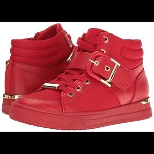 Red Aldo Annex Sneakers Shoes Fits Like a Size 8